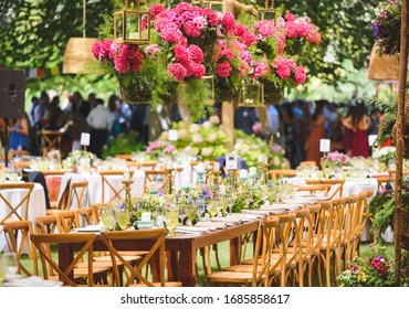 wedding table with chairs for the family
