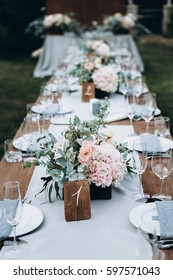 Wedding table decor and flowers
