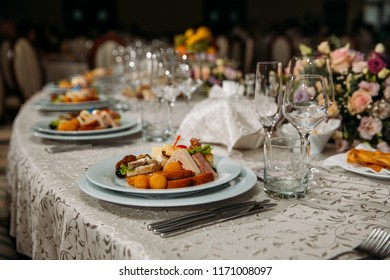 Wedding table decoration and aperitifs