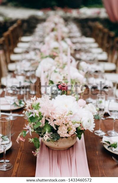 Wedding Table Decoration Floral Design Stock Photo (Edit Now ...