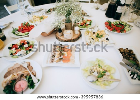 Wedding Table Decoration Food Stock Photo Edit Now 395957836