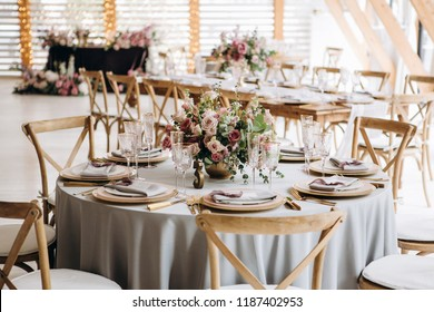 Wedding table decoration rustic and vintage