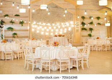wedding table with flower compositions