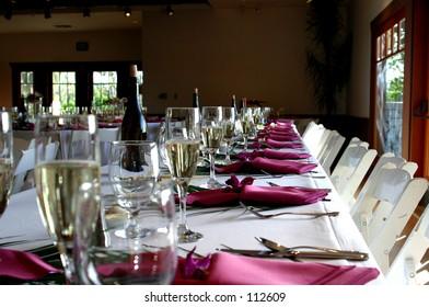 Wedding table of honor