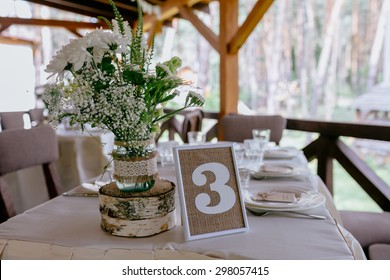 wedding table on rustic wedding