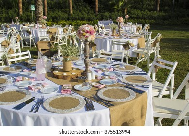 Wedding table, table of organization, celebrities