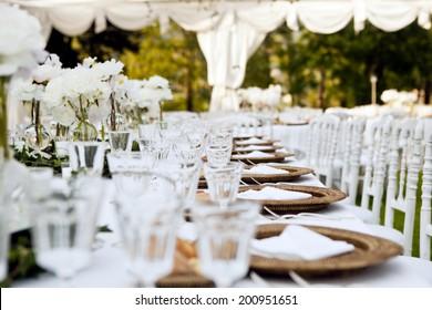 Wedding Table Ready For Dinner