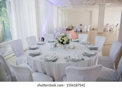 wedding table in a restaurant