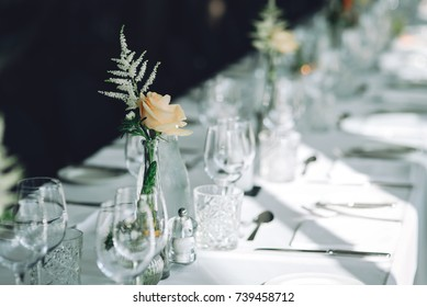 wedding table in a restaurant