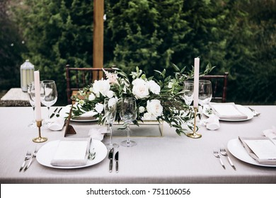 Wedding table in rustic style