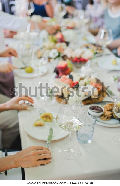 Wedding Table Setting Festive Table White Stock Photo (Edit Now ...