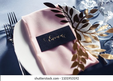 Wedding tables set for banquet or wedding event catering. Party celebration wedding concept. Flowers wedding decoration of tables for guests of bride and groom. Table appointment event