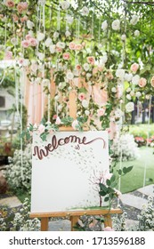 Wedding Welcome Board with beautiful flower