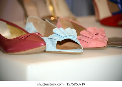 Wedding woman shoes close up photography