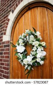 Wedding Wreath on Door