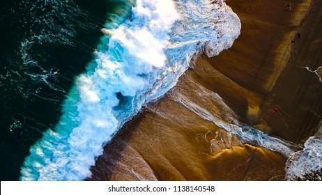 The Wedge Newport Beach California Surfer Aerial Footage