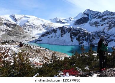 The Wedgemount Lake, The British Columbia, Canada, Autumn