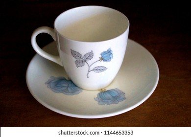 """Wedgwood China """"Ice Rose"""" Collection Cup and Saucer"""