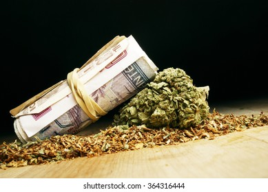 Weed Money, Marijuana Cannabis and US and Foreign Currency