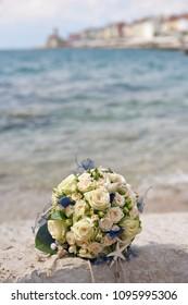 Weeding bouquet on a beach, beach weeding