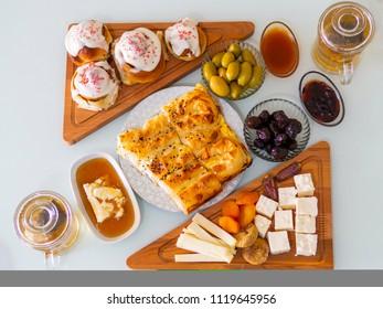 Weekend breakfast enjoyment. Brunch time. morning breakfast