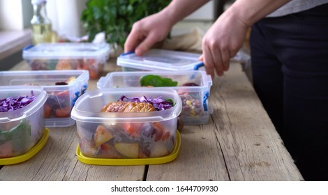 Weekend meal prep for weight loss. Portion Control. Healthy homemade workout food