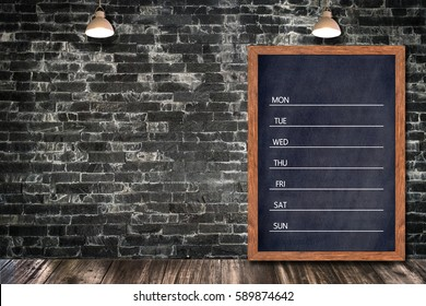 Weekly menu boards & signs for office restaurant bar home decorative, Template mock up for adding your design and leave space beside frame for adding more text.