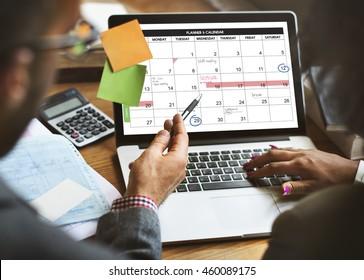 Weekly Planner Schedule Memo Timeline Concept