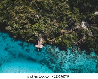 weekuri lagoon southwest sumba aerial