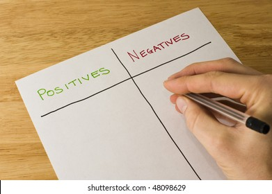 Weighing Up The Positives And Negatives