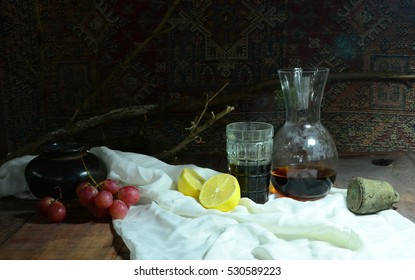 The Weight Amp Ulla Grape Lemon Red Wine Glass And
