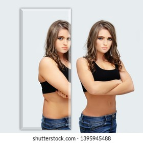Weight loss, diet, abdominoplasty.female body