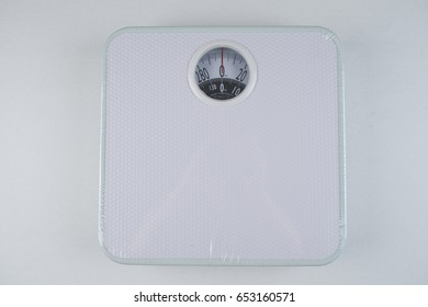 weight on white background