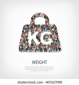 weight people sign