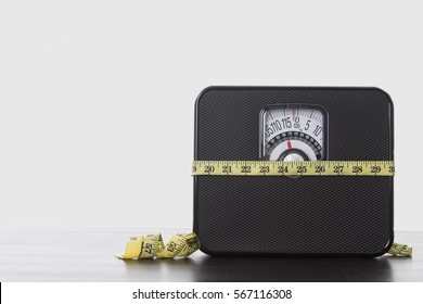 Weight scale instrument for measurement balance of people body concept.