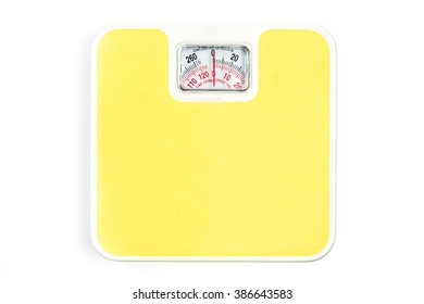 Weight scale isolated on white background