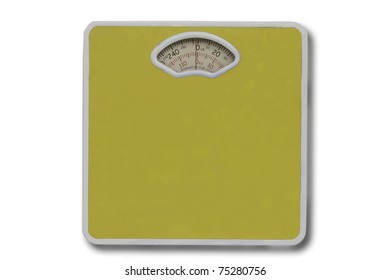 weight scale isolated in white.