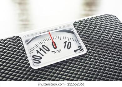 Weight Scale measurement Diet conceptual