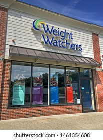 Weight Watchers dieting service storefront, Saugus Massachusetts USA, July 4, 2019