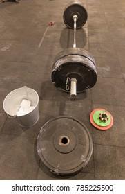 Weightlifting tools at gym