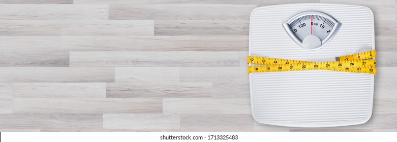 Weightloss Weight Scale In Bathroom. Scales Kilograms Balance