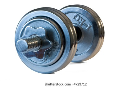Weights isolated on white background.