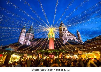 Weihnachtsmarkt, Christmas, Market, Mainz