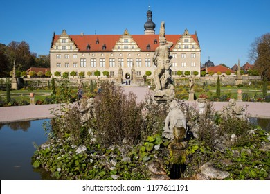 WEIKERSHEIM, GERMANY - OCTOBER 04  2018: Uniquely preserved is probably the most beautiful castle of Hohenlohe.