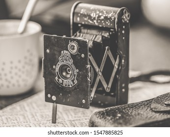 Weil am Rhein, Germany - 06/01/2019: The old KODAK Camera from 1913 in a top view