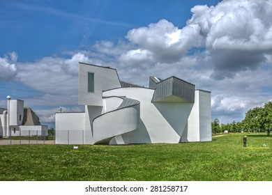 WEIL AM RHEIN, GERMANY - MAY 17: Vitra Design Museum designed by Frank Gehry on May 17, 2015. The Vitra Design Museum is located outside the city of Basel in Switzerland, but in Germany.