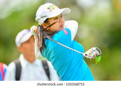Wei-Ling of Taipei in action during the Honda LPGA Thailand 2019 Round 2 at Siam Country Club, Old Course on February 22, 2019 in Chonburi, Thailand.