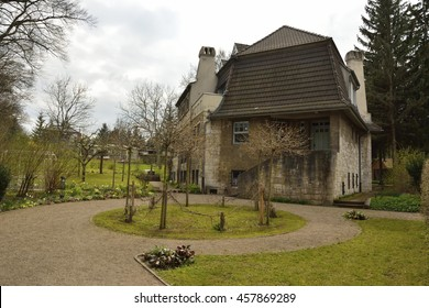 WEIMAR, GERMANY - APRIL 12, 2016. Haus Hohe Pappeln building in Weimar. Belgian art-nouveau architect Henry van de Velde, lived in this building with his family for nine years, starting in 1908.