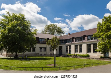 """Weimar, Germany - May 26 2017: Exterior view of Bauhaus University Weimar (german: """"Bauhaus-Universität Weimar"""")"""