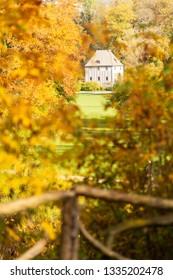 Weimar, Goethe Garden House at famous Ilmpark in autumn
